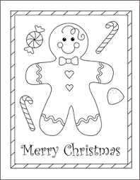 Small Picture Christmas coloring cards for kids printable free coloring cards