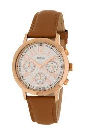 image of fossil women s leather strap watch