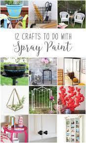 12monthsofdiy june spray paint diy craft ideas