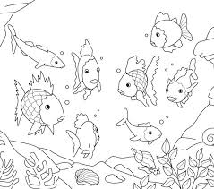 printable fish coloring pages clown page free