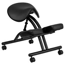 saddle office chair. Ergonomic Kneeling Chair With Black Saddle Seat - Flash Furniture Office