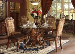 amazon acme 60010 dresden dining table cherry oak finish table chair sets