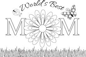 Worlds Best Mom Mothers Day Coloring Pages Printable