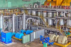 power plant generators. Machine Room In Thermal Power Plant With Electric Generators And Turbines Stock Photo - 48447500 T