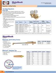 Turbo Torch Tip Sizes Chart Two Stage Regulators Metalcraft Hand Cutting Torches
