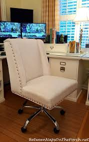 comfortable home office chair.  Office A Comfortable Upholstered Chair For My Home Office  Between Naps On The  Porch Intended E