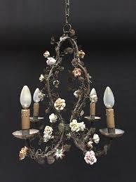 antique metal and porcelain chandelier antiqueswarehouse recent added items european antiques decorative