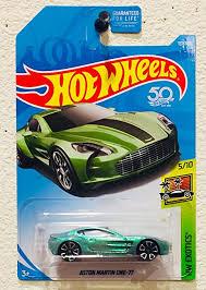 Amazon Com Hot Wheels 2018 50th Anniversary Hw Exotics Aston Martin One 77 117 365 Pale Green Toys Games
