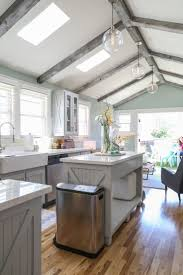 Jeff & Joseph's Silver Lake Bungalow. Painted Ceiling BeamsVaulted ...