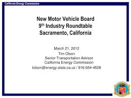new motor vehicle board 9 th industry roundtable sacramento california n