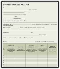 business process template business process assessment template business process analysis