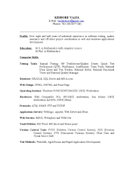 Resume Samples For Qa Testers Resume Examples Resume Template
