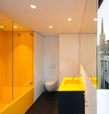 Yellow Bathroom Modern Crisp Lines In Yellow Interiors By Color
