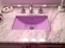 custom color bathroom sink refinishing
