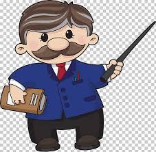 Animation Teacher Cartoon Teacher Brown Haired Female Illustration