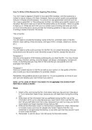how to write a movie essay okl mindsprout co a film review