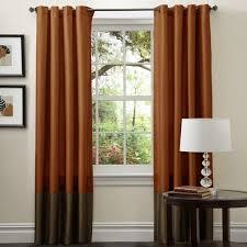 lush decor prima brown rust 84 inch curtain panel pair
