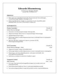 Chronological Resume Format Example Examples Of Resumes