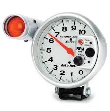 auto meter sport comp silver tachometers demon tweeks auto meter sport comp silver tachometers