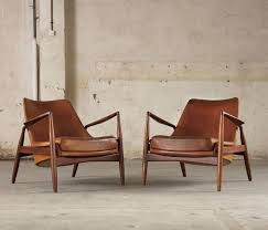 modern leather chair. Pair Of 2 \u0027seal\u0027 Lounge Chairs By Ib Kofod Larsen In Original Cognac Leather Image Modern Chair E