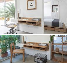16 wall desk ideas that are great for small spaces three cubbies inside this