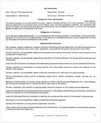 director job description director of nursing job description cycling studio