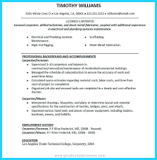 Template Carpenter Resume Template Sample Residential Construction