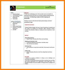 5 Freshers Resume Samples In Word Format Trinity Training