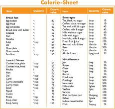 Printable Food Calorie Chart Download Food Calorie Calculator With Monthly Calorie Log