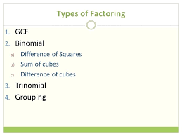 solving by factoring math types of factoring 1 2 factorising quadratics maths genie answers