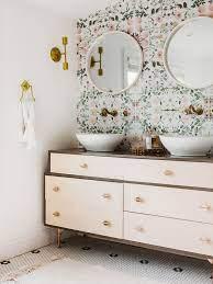 a dresser into a bathroom vanity