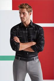office holiday party making a graphic statement will higginson models a perry ellis horizontal