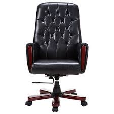 office guest chair. modern high back pu leather deluxe guest office accent chair furniture black new