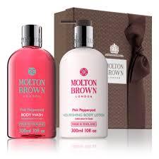 pink pepperpod shower gel lotion gift set