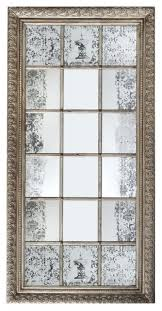 Modern window pane mirror