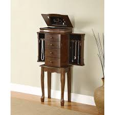 furniture jewelry armoire. powell furniture 741-319 louis philippe jewelry armoire in walnut l