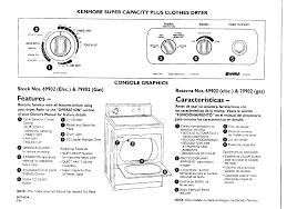 kenmore quiet pak 9. kenmore 79902 clothes dryer user manual quiet pak 9 a