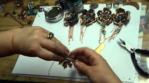 jewelry making lumiere paints gilder s paste and diamond glaze flower necklaces pendants you