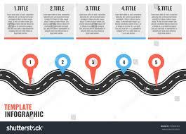 Navigation Winding Road Vector Way Map Stock Vektorgrafik