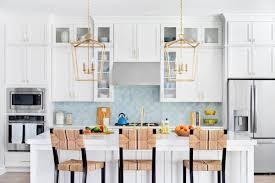 trendy blue tile backsplash