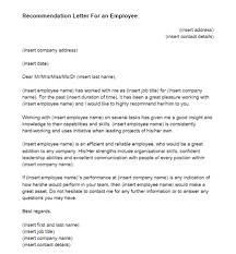 Recommendation Letter For Employment Mesmerizing Recommendation Letter For A Employee Kubreeuforicco