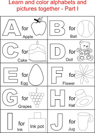 Alphabet Part I Coloring Printable Page For Kids Alphabets Coloring
