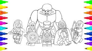 Lego Avengers Infinity War Coloring Page For Kids And Adult Youtube