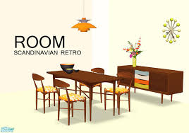 mid century modern dining and style set sims 3 download. room - retro scandinavian dining mesh set mid century modern and style sims 3 download 0