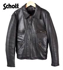 38 made in usa schott shot collar with single ray jacket with leather jackets liner vest black leather steerhide mens m equivalent