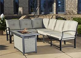 Amazon Cosco Outdoor 7 Piece Serene Ridge Aluminum Sofa