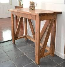 Diy Rustic Sofa Table Inexpensive Diy Breakfast Bar Breakfast Bars Console Tables And Bar