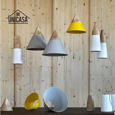 <b>Modern Wood Pendant</b> Lights Industrial Aluminum Mini <b>LED</b> ...