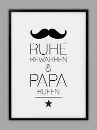 Originaldruck Papa Rufen Druck Geschenk Vater Ein