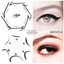 2packs multifunction eye stencil 6 in 1 eyeshadow and eyeliner stencils for eye makeup template makeup